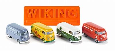 Wiking 1:87 Set 4x Volkswagen T1 Geschenkverpakking