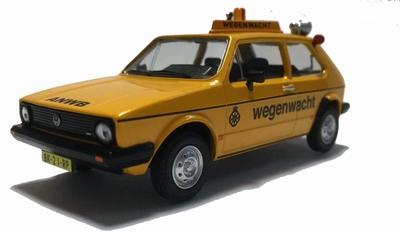 WSI Tema Toys 1:43 Volkswagen Golf 1 ANWB Wegenwacht geel