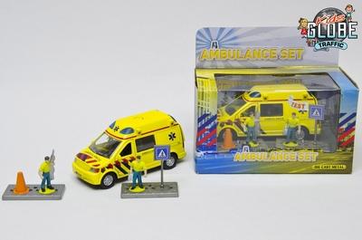 Kids Globe Ambulance met licht en geluid en accessoires