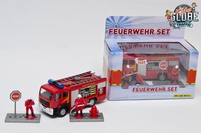 Kids Globe Brandweer Tankautospuit met accessoires ( Duits)
