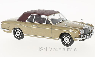 Oxford 1:43 Rolls Royce Cormiche Convertible beige rood