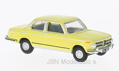 Oxford 1:76 BMW 2002 geel RHD