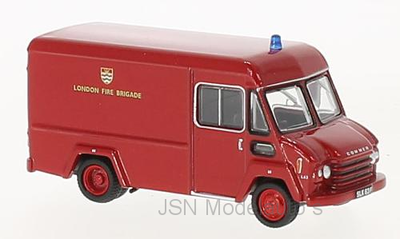 Oxford 1:76 Commer Walk Thru Van London Fire Brigade rood