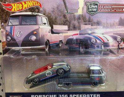 Hotwheels 1:64 Porsche 356 Speedster en Volkswagen T1