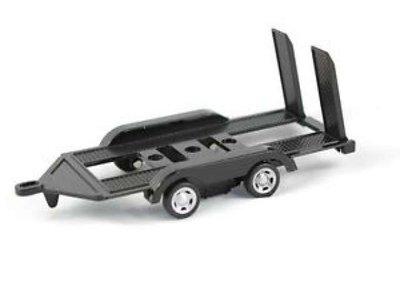 Motor Max 1:43 Auto Trailer Diecast metal zwart