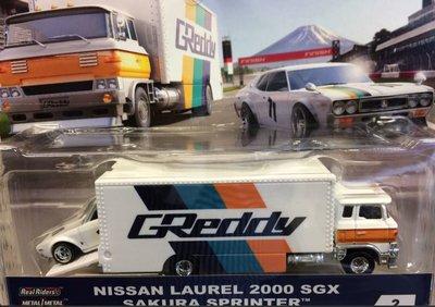 Hotwheels 1:64 Nissan Laurel 2000 SGZX en Sakura Sprinter