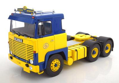 Road Kings 1:18 Scania LBT 141 ASG 1976 blauw/geel