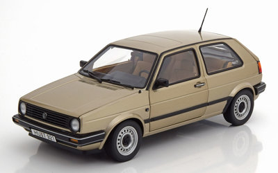 Norev 1:18 Volkswagen Golf 2 CL 1988 beige metallic