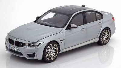 Norev 1:18 BMW M3 F80 Competition 2017 zilver