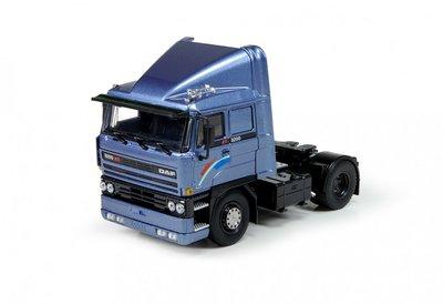 Tekno 1:50 Daf 3200 Slaapcabine blauw left hand drive