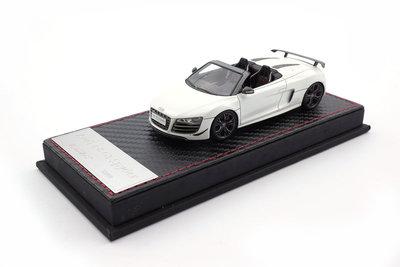 Fronti Art 1:43 Audi R8 GT wit met cabon afwerking oplage 99 stuks met genummerd certificaat