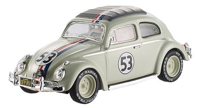 Hot Wheels Elite 1:43 Volkswagen Beetle Herbie No 53 Goes To Monte Carlo