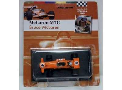 Atlas 1:43 McLaren M7C no4 Bruce McLaren oranje