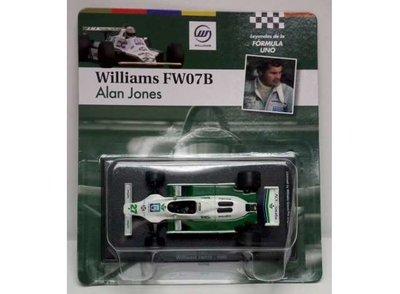Atlas 1:43 Williams FW07B no27 Alan Jones 1980 groen wit