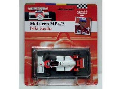 Atlas 1:43 McLaren MP4-2 Niki Lauda no8 1984 wit rood