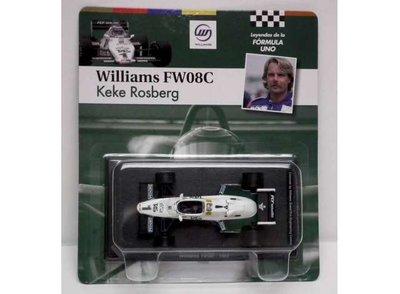 Atlas 1:43 Williams FW08C Keke Rosberg no 1 wit groen 1983