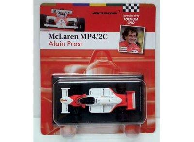 Atlas 1:43 McLaren MP4-2C Alain Prost no1 wit rood 1986