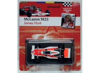 Atlas 1:43 McLaren M23 James Hunt no 11 wit rood 1976