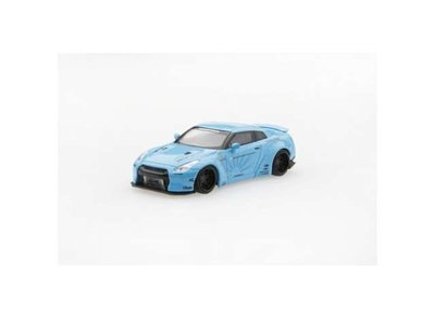 TMS Model 1:64 LB Works NIssan GT-R R35 Type 1 2018 lichtblauw