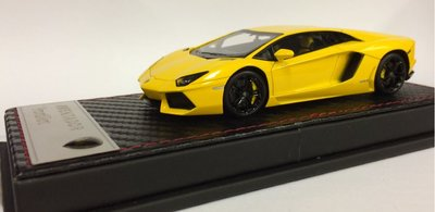 Fronti Art 1:43 Lamborghini Aventador LP700-4 geel