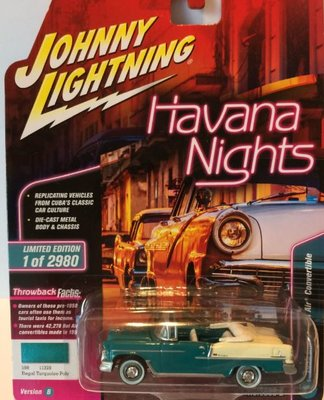 Johnny Lightning 1:64 Chevrolet Bel Air Cabriolet turqouise
