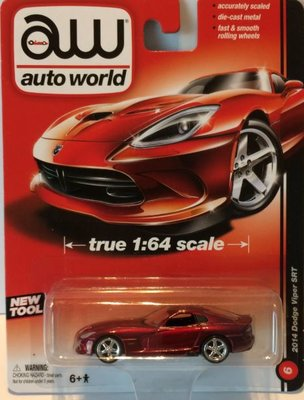 Auto World 1:64 Dodge Viper SRT 2014 rood