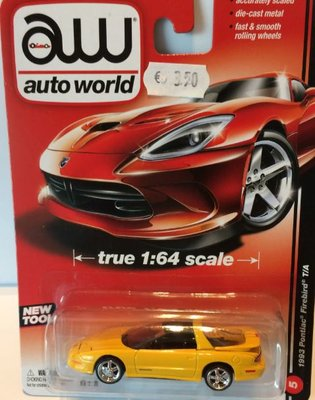 Auto World 1:64 Pontiac Firebird TA 1993 geel