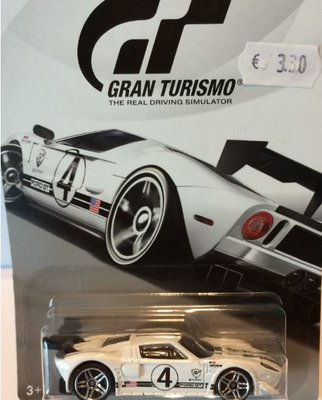 Hot Wheels 1:64 Ford GT Gran Turismo no 4 wit