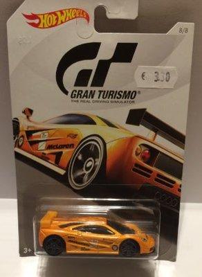 Hot Wheels 1:64 McLaren F1 GTR Gran Turismo oranje