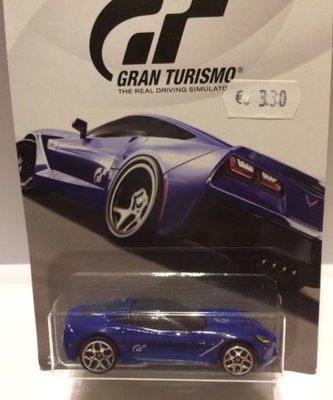 Hot Wheels 1:64 Chevrolet Corvette Stingray Gran Turismo blauw