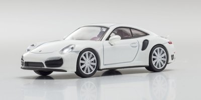 Kyosho 1:64 Porsche 911 Turbo 991 wit
