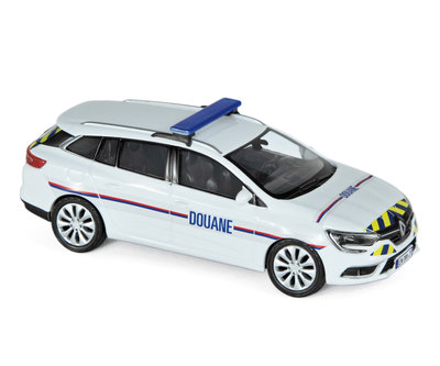 Norev 1:43 Renault Megane Estate 2016 Douanes red/ yellow stripping