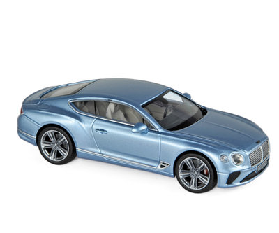 Norev 1:43 Bentley Continental GT 2018 lichtblauw