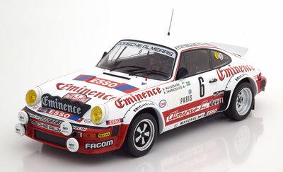 IXO 1:18 Porsche 911 SC No 6 Rally Monte Carlo Waldegard / Thorszelius 1982