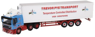 Oxford 1:76 Daf FT85CF Leyland Trevor Pye Transport Temperature Controlled Distribution