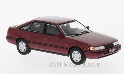 WhiteBox 1:43 Mazda 626 1990 metallic donkerrood