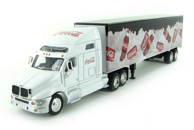Motorcity 1:64 Coca Cola on ice long Hauler wit met zwart
