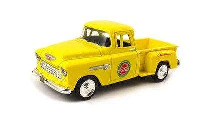 Motor City Classics 1:43 Chevrolet Step Side Pickup Coca Cola geel