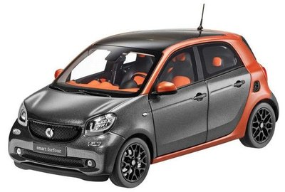 Norev 1:18 Smart Forfour Passion metallic oranje grijs