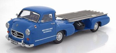 iSCALE 1:18 Mercedes Benz Renntransporter Das Blaue Wunder 1955
