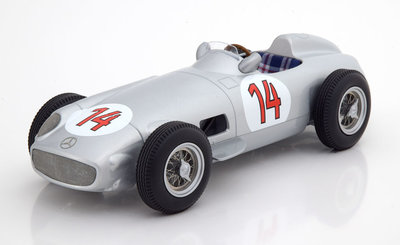 iScale 1:18 Mercedes Benz W196 #14 Stirling Moss 2nd Belgium GP 1955