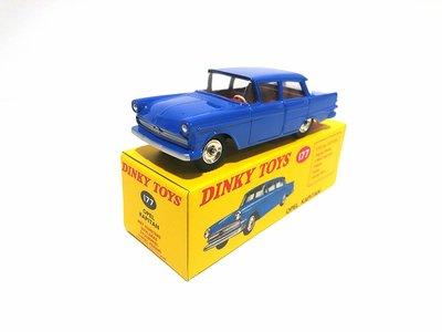 Dinky Toys 1:43 Opel Kapitan / Kapitein blauw Edition Atlas