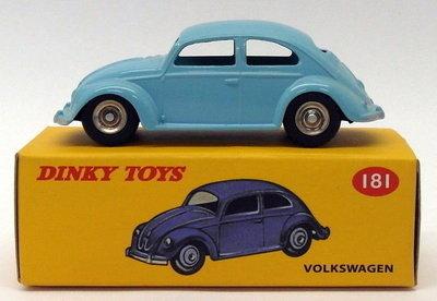 Dinky Toys 1:43 Volkswagen Kever blauw no 181 Edition Atlas