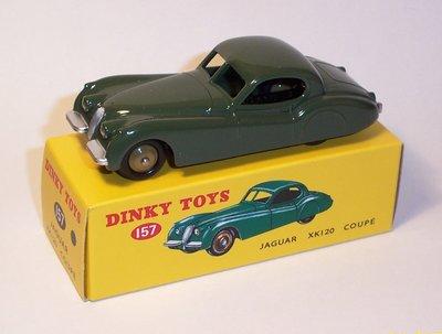 Dinky Toys 1:43 Jaguar XK120 donker groen Dinky nr 157 Editon Atlas