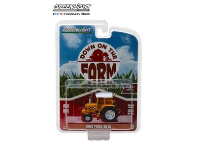 Greenlight 1:64 Ford 5610 Tractor 1988  with Enclosed Cab geel/wit