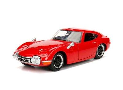 Jada Toys 1:24 Toyota 2000GT 1967 rood