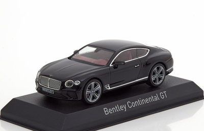 Norev 1:43 Bentley Continental GT 2018 zwart