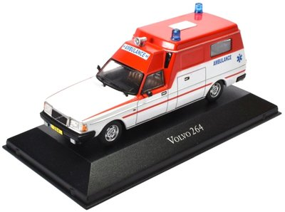Atlas 1:43 Volvo 264 Ambulance wit rood