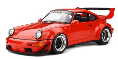 Kyosho 1:12 Porsche 911 964 RWB Coupe rood