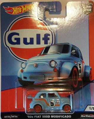 Hotwheels 1:64 Fiat 500D Modificado no 5 Gulf Series